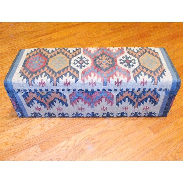 Handmade Kilim Storage Trunk (India)
