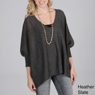 Hanna & Gracie Women's Bat-winged V-neck Sweater