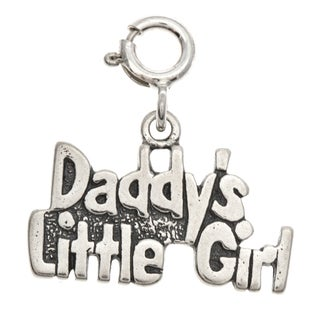 Sterling Silver 'Daddy's Little Girl' Charm