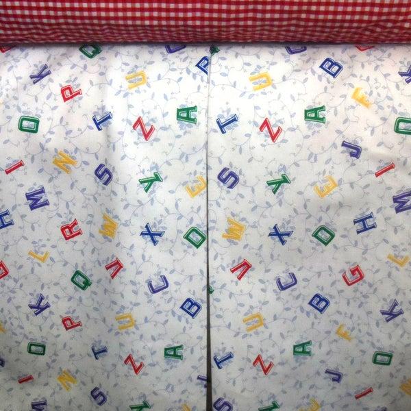Alphabet Crib Skirt