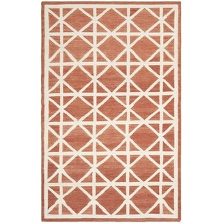 Safavieh Handwoven Moroccan Reversible Dhurrie Red Wool Area Rug