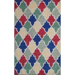 Safavieh Hand-woven Moroccan Reversible Dhurrie Wool Rug