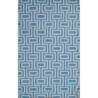 Safavieh Handwoven Moroccan Reversible Dhurrie Light Blue Wool Rug