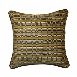 JAR Designs 'Zaney Citrine' Feather Filled Throw Pillow