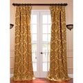 Astoria Gold and Bronze Faux Silk Jacquard French Pleated Curtains