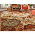Caravan Medallion Multi Area Rug (8&#39; x 10&#39;)