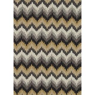 Hand-hooked Charlotte Grey/ Multi Rug (7'6 x 9'6)