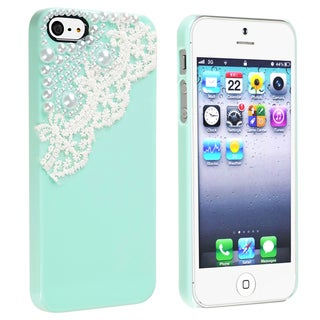 BasAcc Mint Green with Lace Pearl Snap-on Case for Apple® iPhone 5