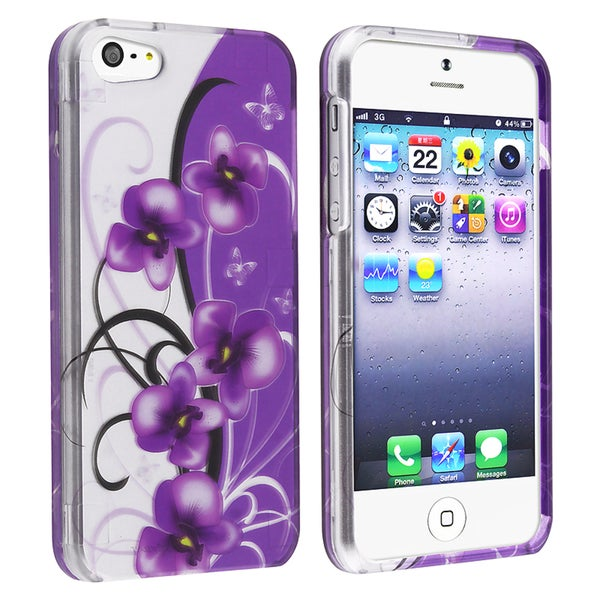 BasAcc Twilight Petunias Snap-on Case for Apple® iPhone 5