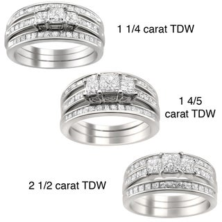 14k Gold 1 1/4 to 2 1/2ct TDW Diamond 3-piece Bridal Ring Set (H-I, I1-I2)