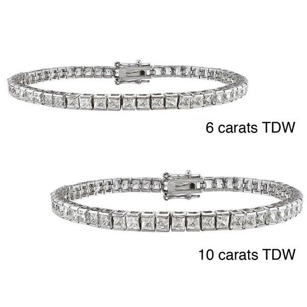 14k Gold TDW Princess-cut Diamond Bracelet (G-H, VS1-VS2)