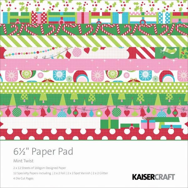 """Mint Twist Paper Pad 6.5""""X6.5""""-"""