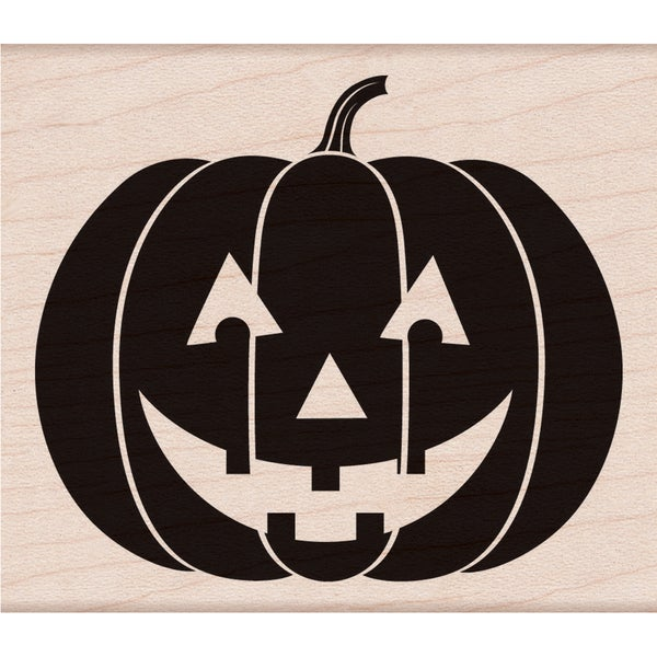 "Hero Arts Mounted Rubber Stamps 3.75""X3.25""-Scary Pumpkin"