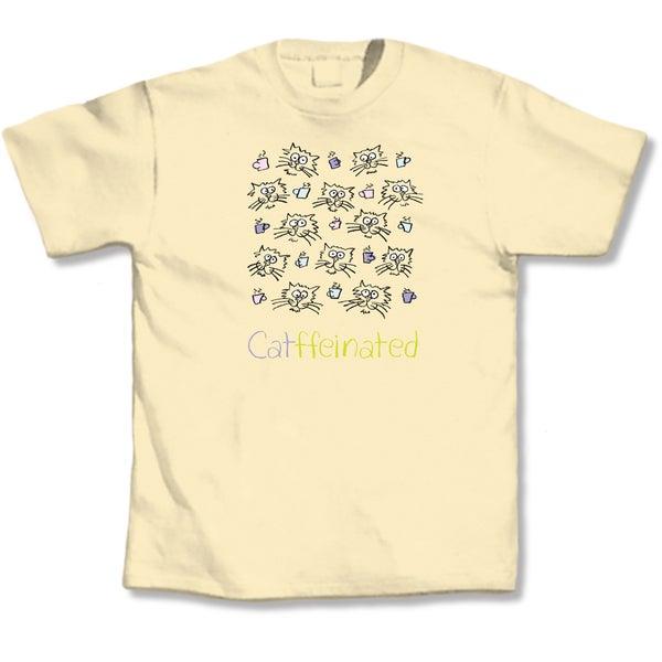 Yellow 'Catffeinated' T-shirt