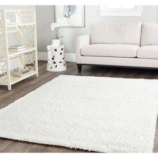 Safavieh Cozy Solid White Shag Rug