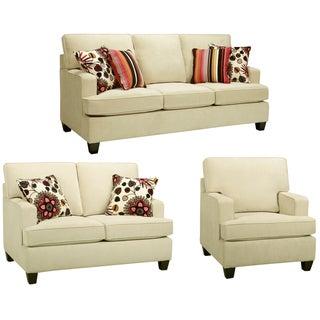 Austin Cream Sofa, Loveseat and Chair