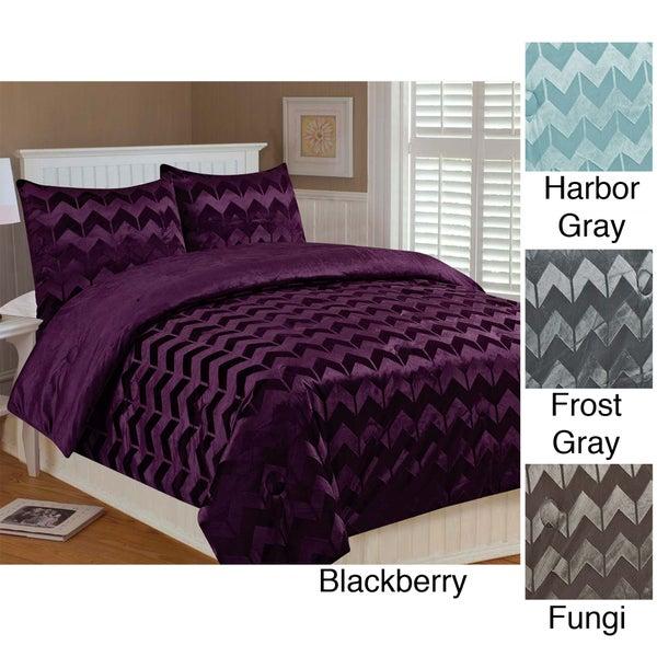 Chevron 3-piece Queen-size Comforter Set