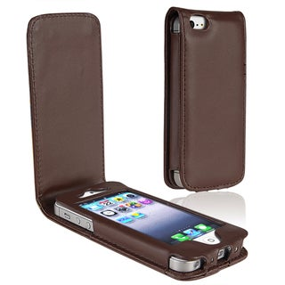 BasAcc Brown Leather Case for Apple iPhone 5