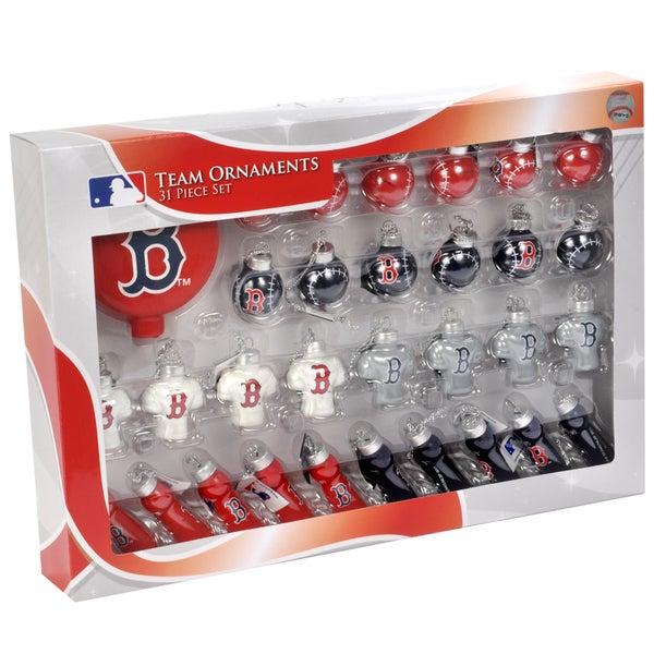 MLB 31-piece Glass Ornament Set