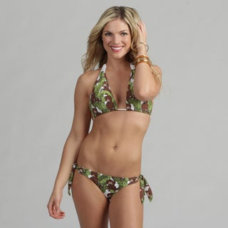 Poko Pano Junior's Monkey Print Bikini Set