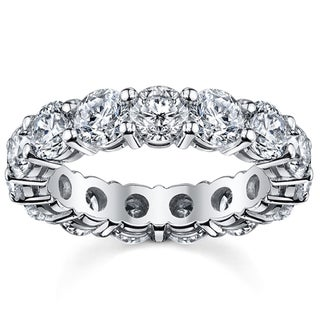 14k White Gold 5ct TDW Diamond Eternity Wedding Band (H-I, I1-I2)