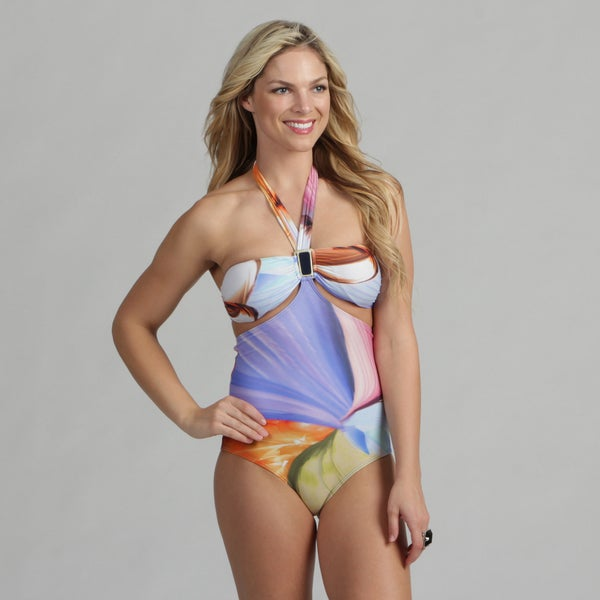 Poko Pano Junior's Watercolor One-Piece Swimsuit