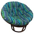 International Caravan Bali 42-inch Outdoor Spun Poly Fabric Print Rattan Papasan Chair