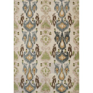 Hand-tufted Parrot Green Wool Rug (9&#39; x 12&#39;)