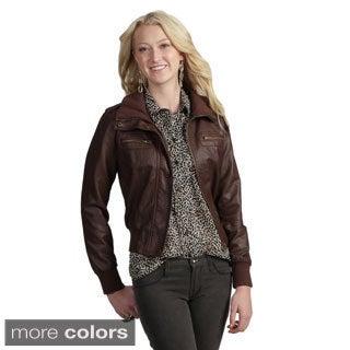 Tabeez Women's Faux Leather Jacket