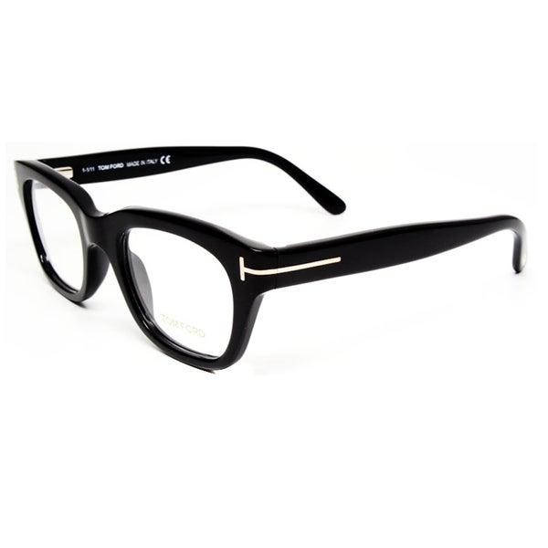 Tom Ford Unisex Black Plastic Eyeglasses