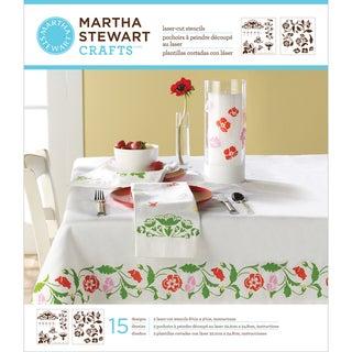 Martha Stewart Medium Stencils 2 Sheets/Pkg-Flower Vines 15 Designs