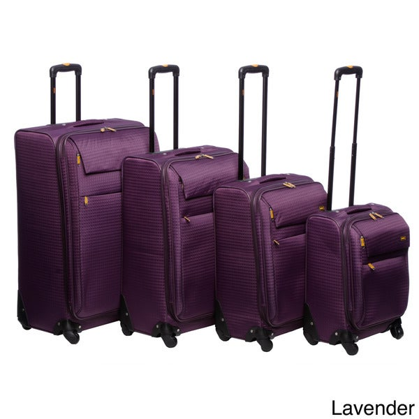 Lucas Cube Collection 4-piece Spinner Luggage Set