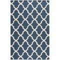 Safavieh Handmade Moroccan Cambridge Blue Wool Rug