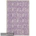 Safavieh Handmade Moroccan Cambridge Purple Wool Rug