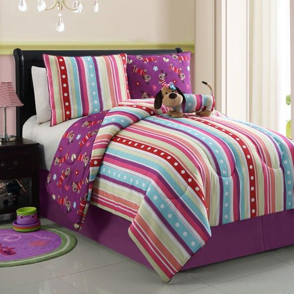 Poodle Reversible 4-piece Comforter Set