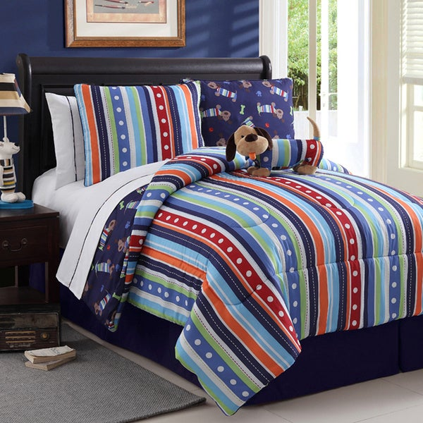 Dog Reversible 4-piece Comforter Set
