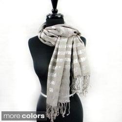 Silver Line Threading Fashion Scarf