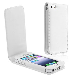 INSTEN White Leather Phone Case Cover for Apple iPhone 5/ 5S