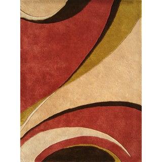 Alliyah Handmade Beige New Zealand Blend Wool Rug