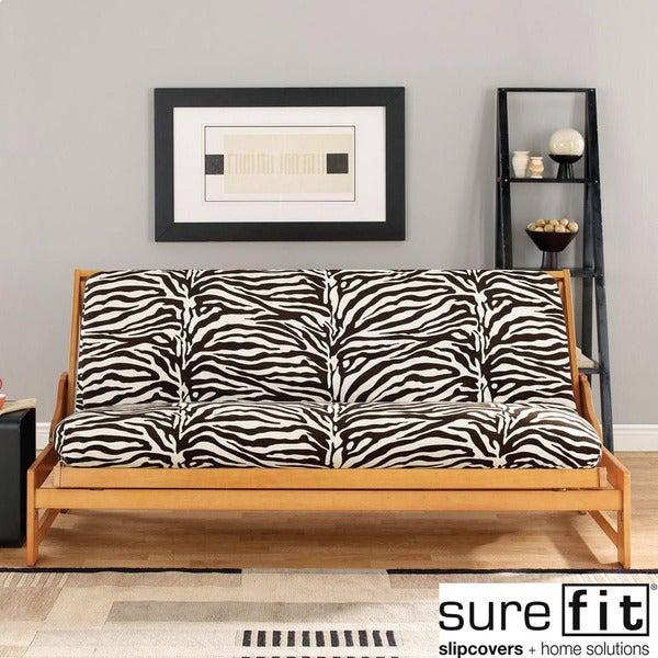 Velvet Zebra Black and White Futon Cover