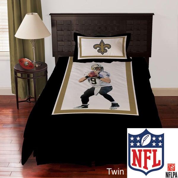 NFL Biggshots New Orleans Saints Drew Brees 4-piece Comforter Set