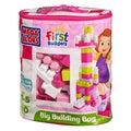 Mega Bloks 80-piece Pink Big Building Bag