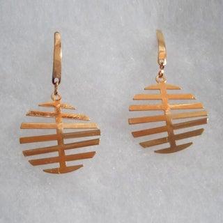 18k Gold Dangle Earrings