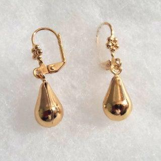 18k Gold Large Teardrop Earrings