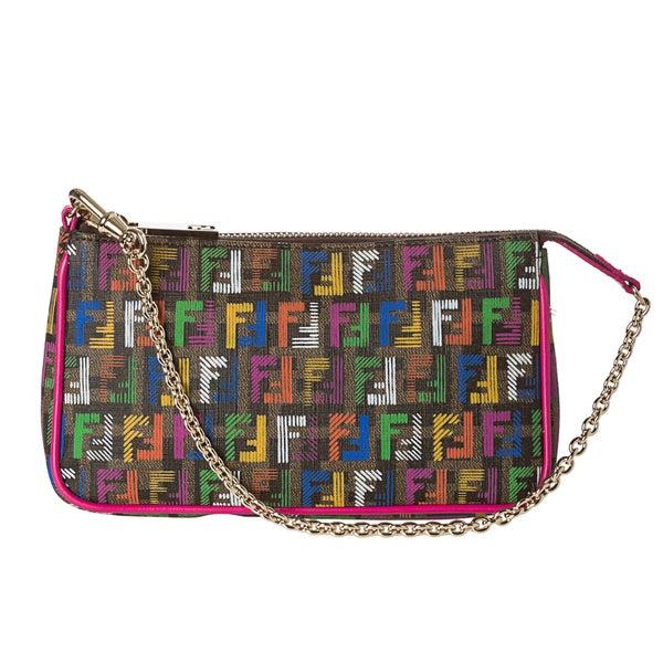 Fendi Women's 'Forever-Techno' Multicolored Zuccino Pouchette