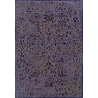 Indoor Purple/ Beige Area Rug