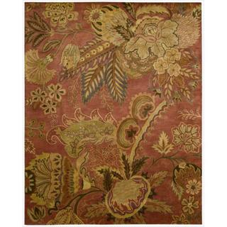 Nourison Hand-tufted Jaipur Flame Red Wool Rug