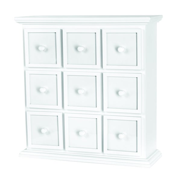 Doodlebug White 9-drawer Apothecary Chest