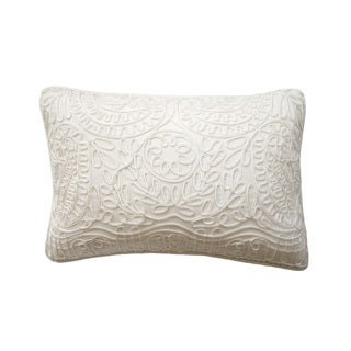 Rose Tree Embroidered Scroll Decorative Pillows (Set of 2)