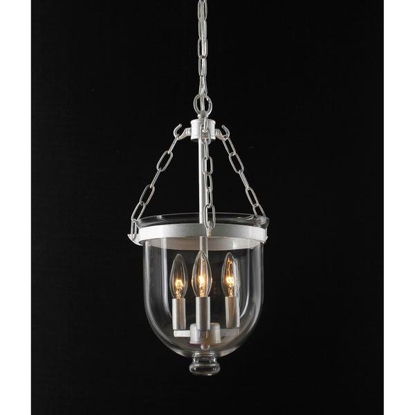 Bell Jar Satin Nickel Lantern Chandelier